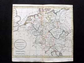 Guthrie 1788 Antique Hand Col Map. Germany from the best Authorities